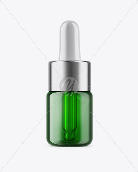 5ml Green Glass Dropper Bottle