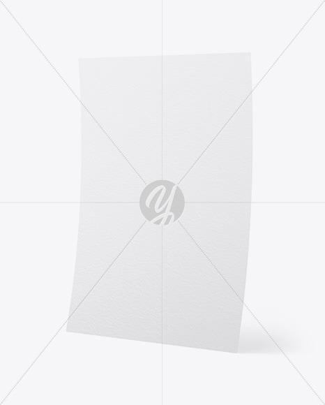 A4 Textured Paper Mockup