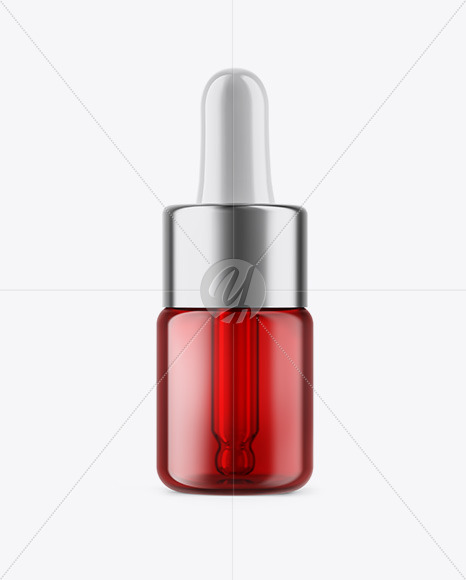 5ml  Red Glass Dropper Bottle