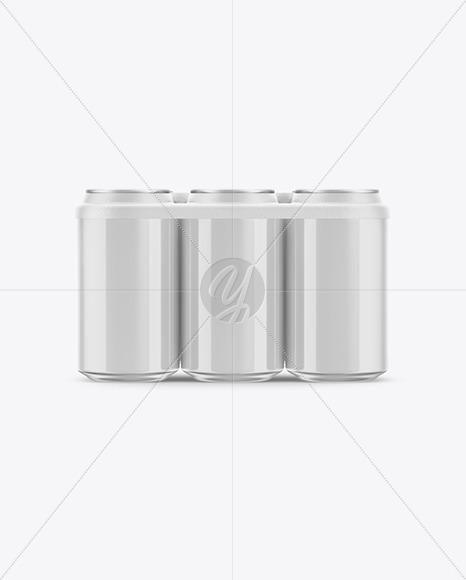 Glossy Cans Mockup