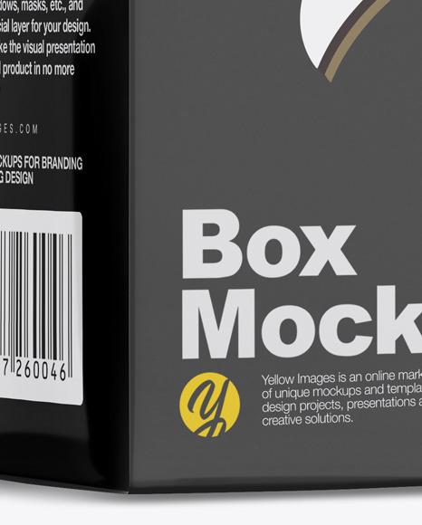 Metallic Nasal Spray Bottle w/ Box Mockup