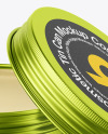 60g Matte Metallic Cosmetic Tin Can Mockup