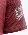 Men's Heather Raglan T-Shirt Mockup - Back View