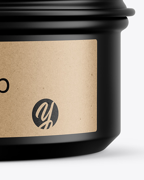 100g Matte Cosmetic Tin Can Mockup