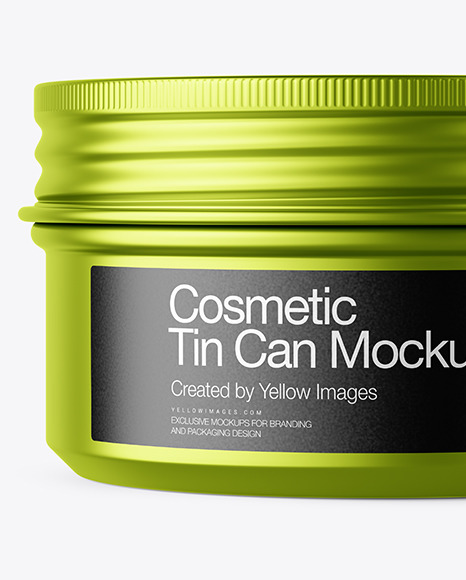 100g Matte Metallic Cosmetic Tin Can Mockup