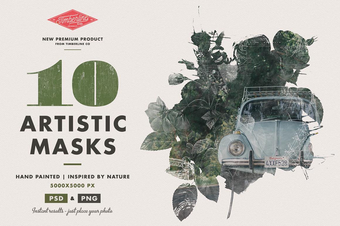 10 Artistic Watercolor Masks