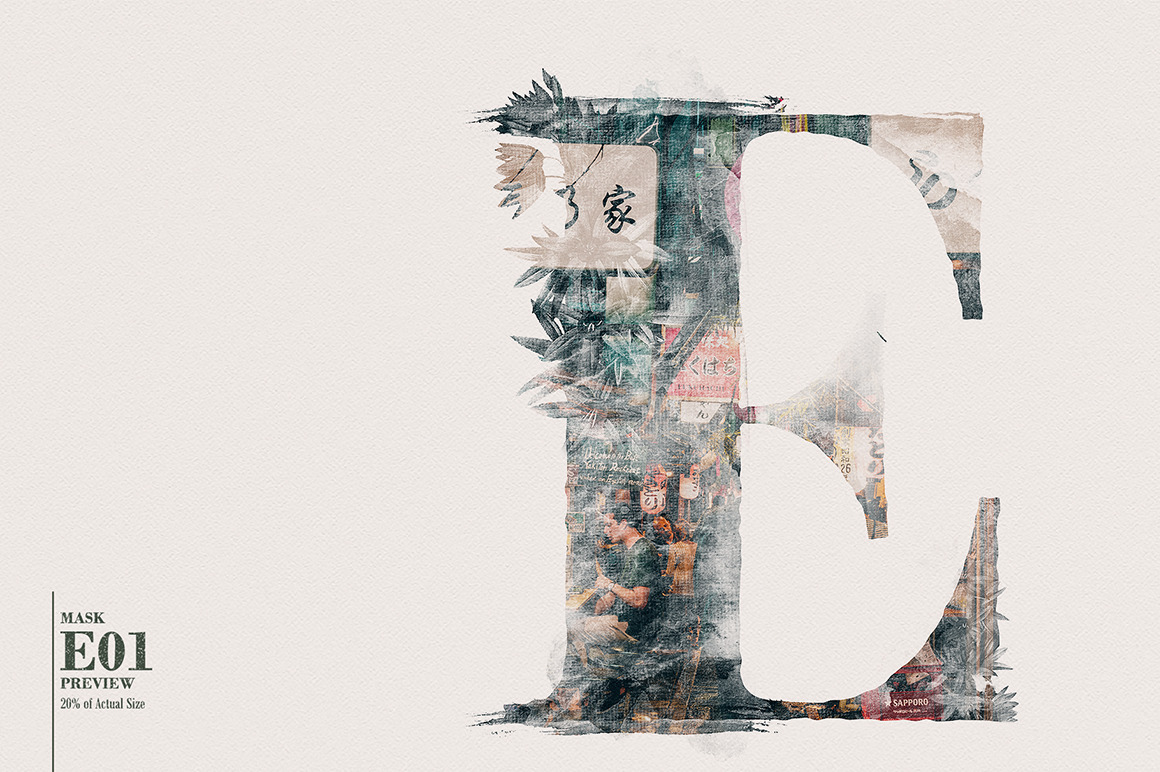 10 Alphabetical Masks Vol 01