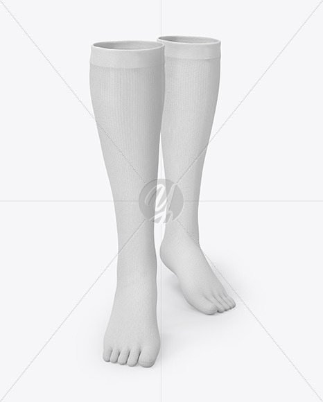 Long Toe Socks Mockup