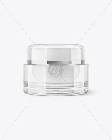 Glass Cosmetic Jar Mockup