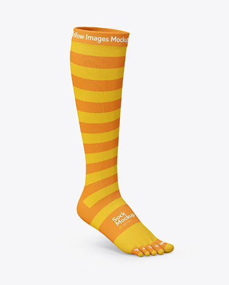 Long Toe Sock Mockup