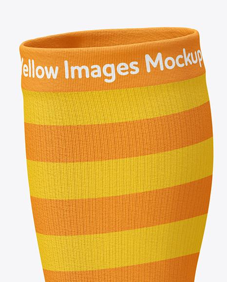 Long Toe Sock Mockup