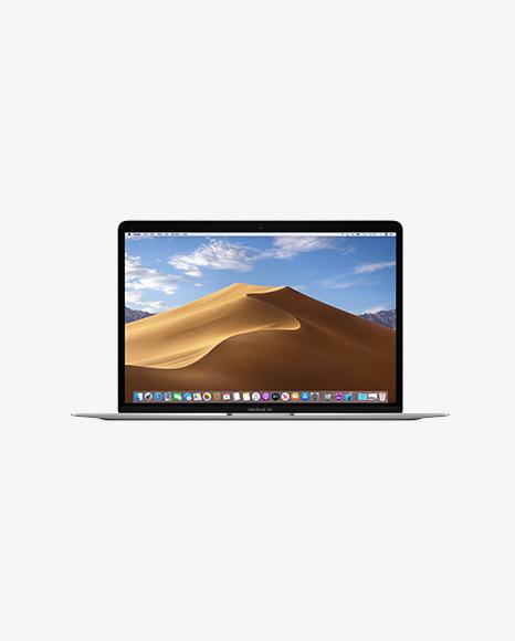 Silver MacBook Air Mockup