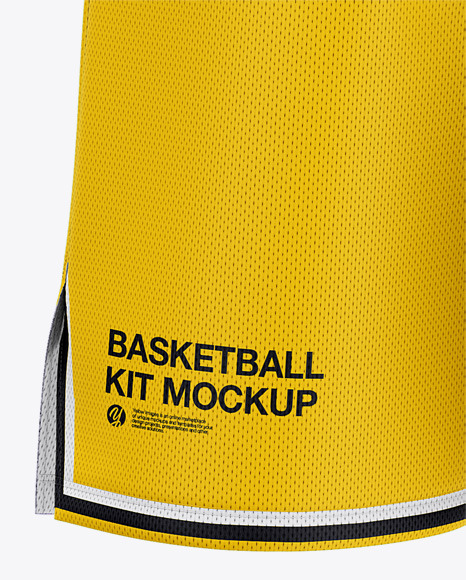 Download Mens Basketball Kit Mockup Back View Of Basketball Jersey And Shorts Yellow Images