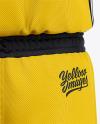 Men's Basketball Kit Mockup - Back View Of Basketball Jersey And Shorts