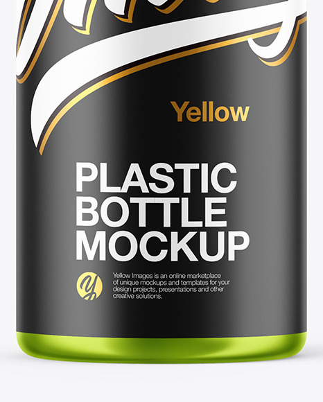 Metallic Plastic Bottle Mockup