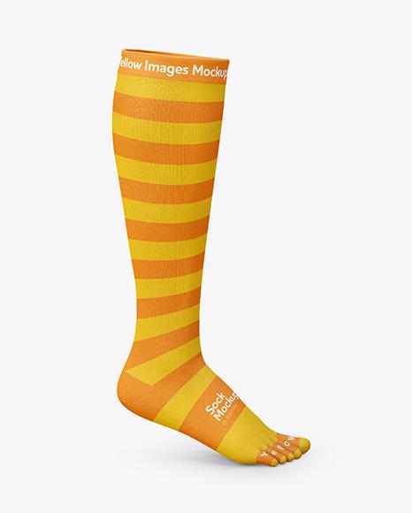 Download Long Toe Sock PSD Mockup