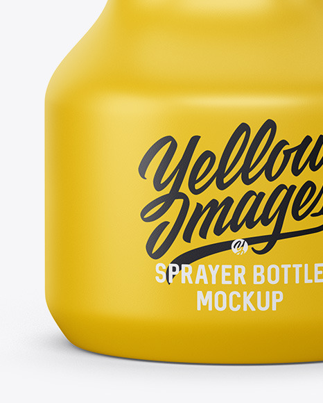 Matte Plastic Bottle with Trigger Sprayer Mockup