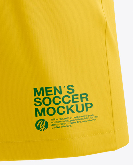T-shirt Soccer Mockup Side view
