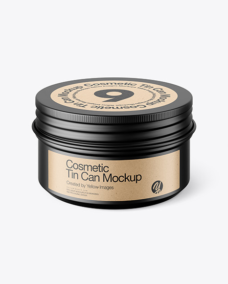 Download 100g Matte Cosmetic Tin Can PSD Mockup