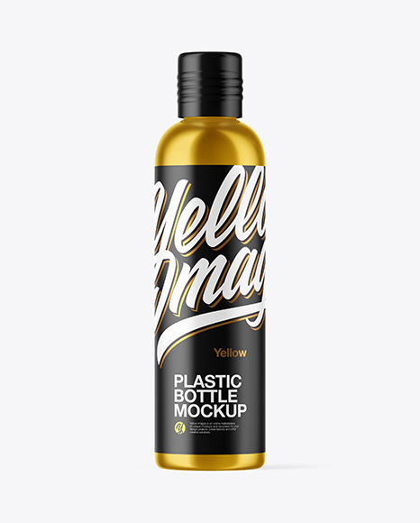 Download Metallic Plastic Bottle PSD Mockup