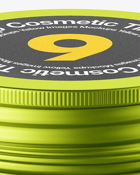 100g Matte Metallic Cosmetic Tin Can Mockup