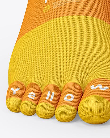 Short Toe Socks Mockup