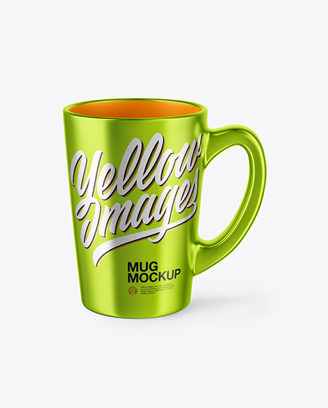 Download Metallized Mug PSD Mockup