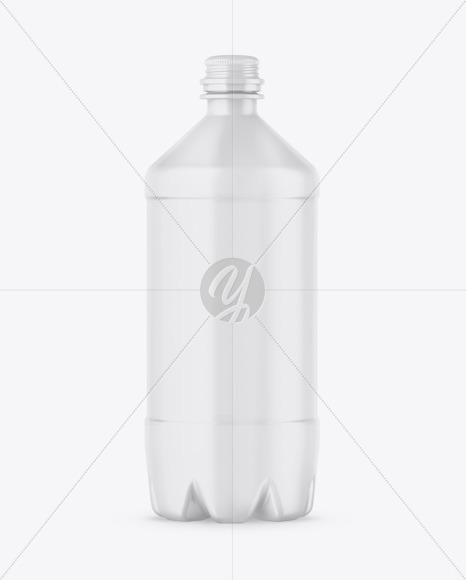 PET Matte Bottle Mockup