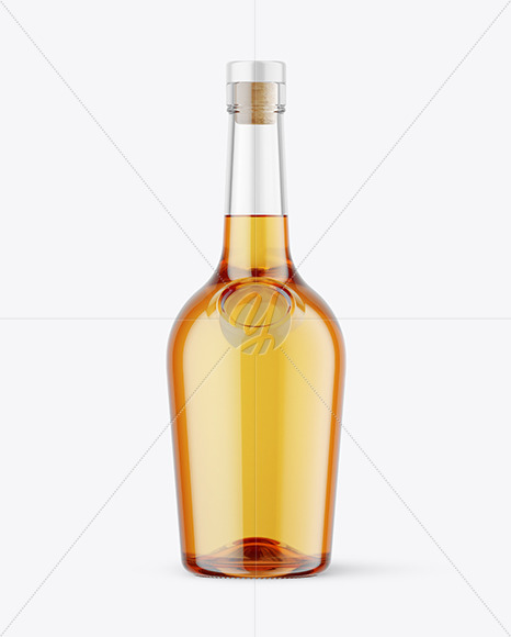 500ml Clear Glass Whiskey Bottle Mockup