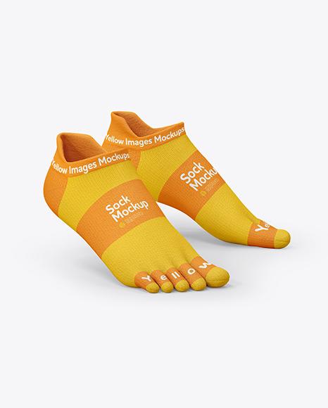 Short Toe Socks Mockup
