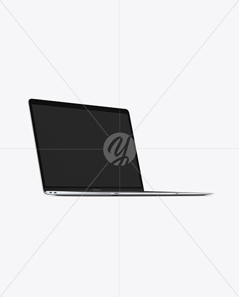 Silver MacBook Air Mockup