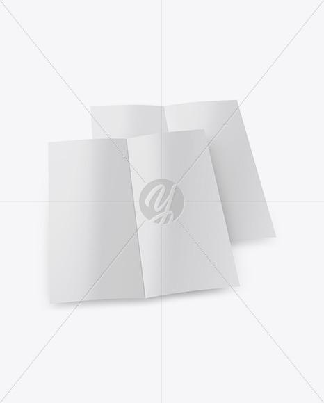 Two Glossy Brochures Mockup