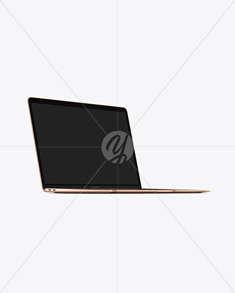 Gold MacBook Air Mockup