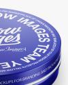 Metallic Round Cosmetic Tin Can Mockup