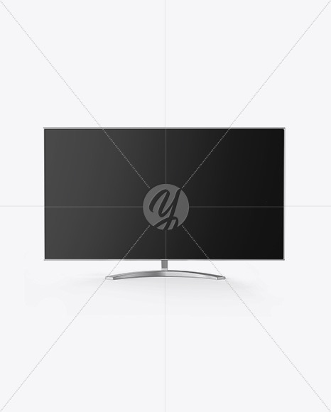 Metallic Monitor Mockup