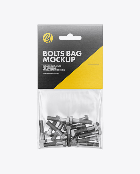Download Plastic Bag With Bolts PSD Mockup
