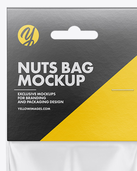 Plastic Bag With Nuts Mockup