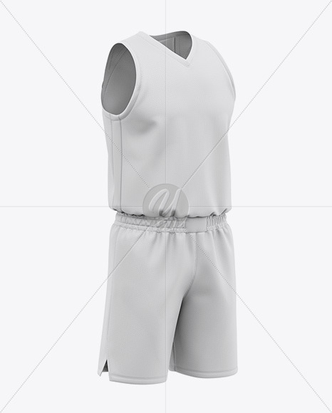 Men's Basketball Kit Mockup - Front Half Side View