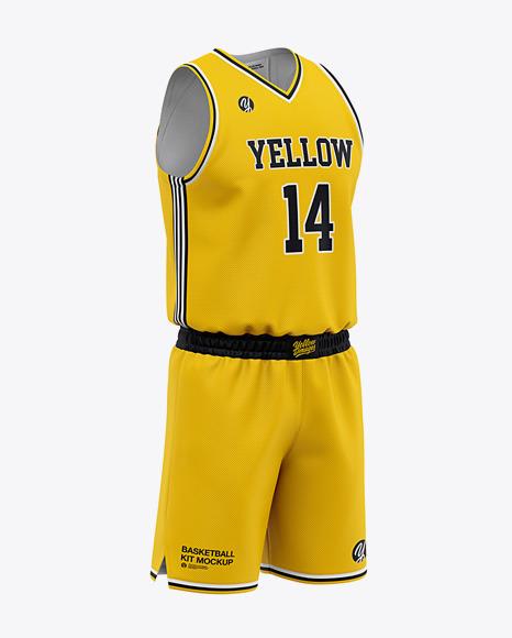 Men's Basketball Kit Mockup - Basketball Jersey And Shorts