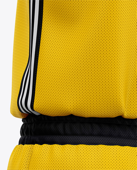 Men's Basketball Kit Mockup - Back Half Side View