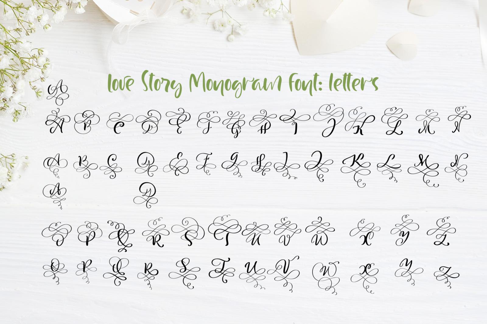 Love Story Monogram Font