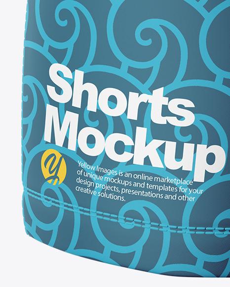 Men's Shorts Mockup (Back View)