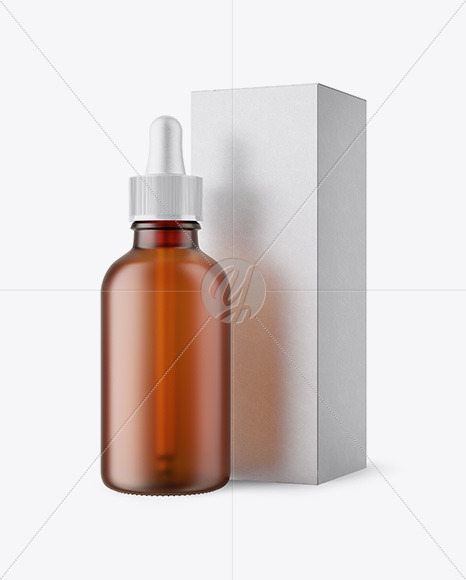 50ml Frosted Amber Glass Bottle W/ Kraft Box