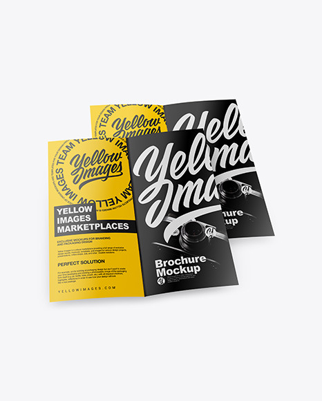 Download Two Matte Brochures PSD Mockup