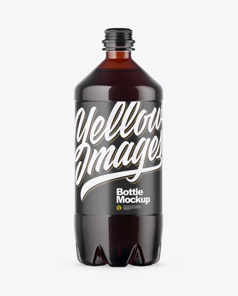 Download PET Amber Bottle PSD Mockup