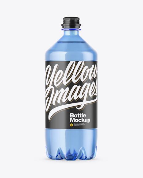 Download PET Blue Bottle PSD Mockup