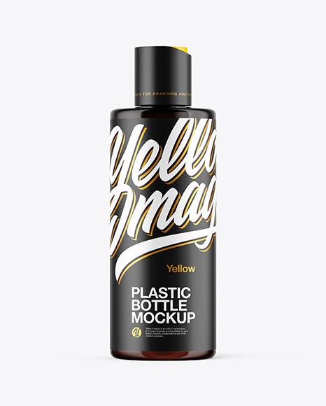 Download Amber Plastic Bottle PSD Mockup