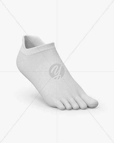 Short Toe Sock Mockup