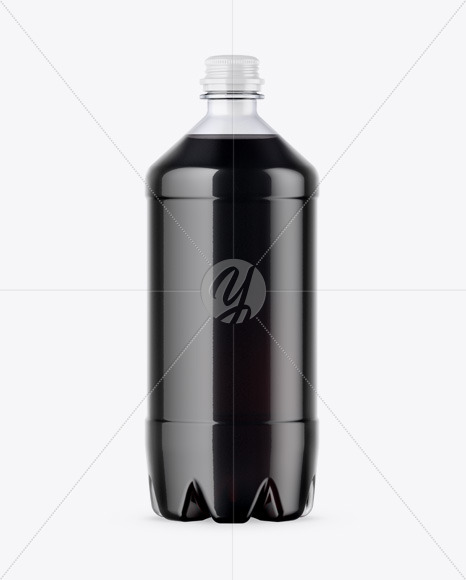 PET Bottle w/ Cola Mockup