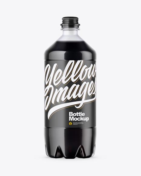 Download PET Bottle w Cola PSD Mockup